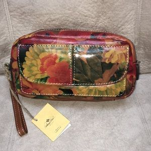 Patricia Nash Remini Floral Leather Cosmetic Bag